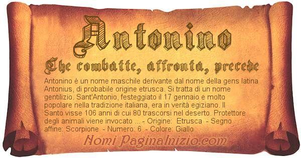 Nome Antonino