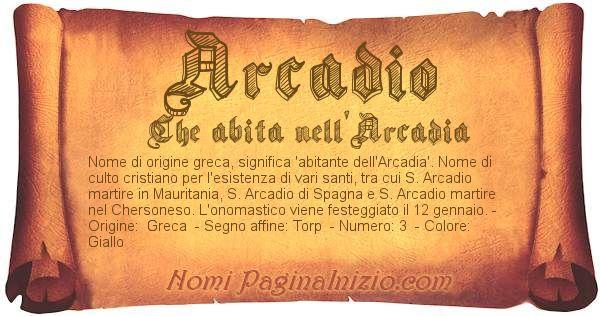 Nome Arcadio