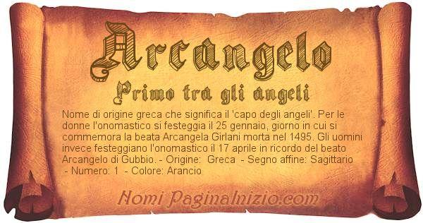 Nome Arcangelo