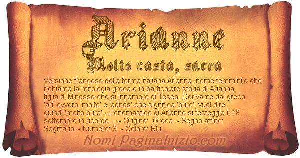 Nome Arianne