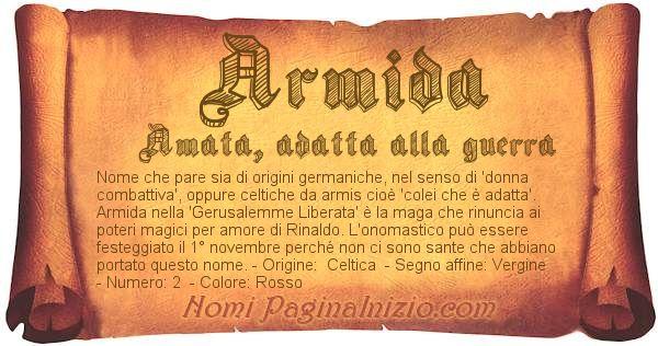 Nome Armida