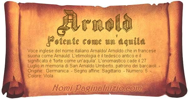Nome Arnold