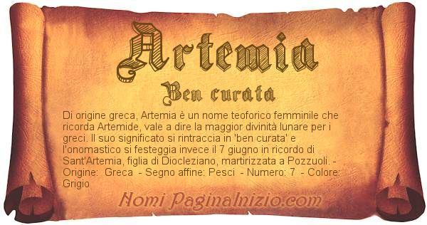 Nome Artemia