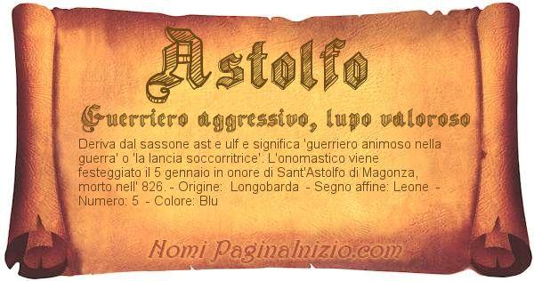 Nome Astolfo