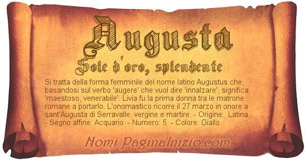 Nome Augusta