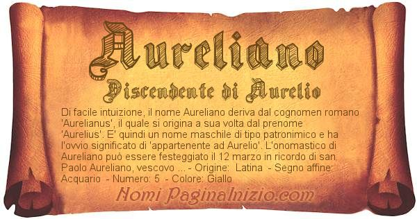 Nome Aureliano