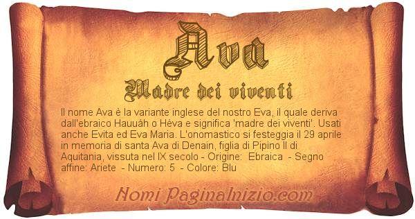 Nome Ava