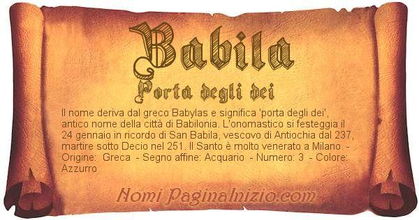 Nome Babila