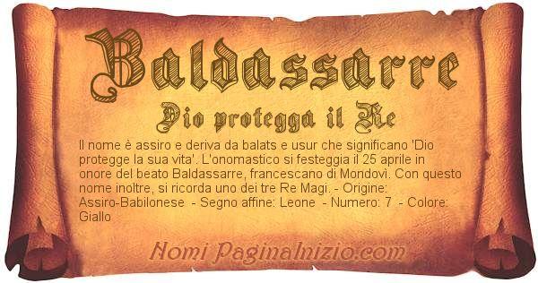 Nome Baldassarre