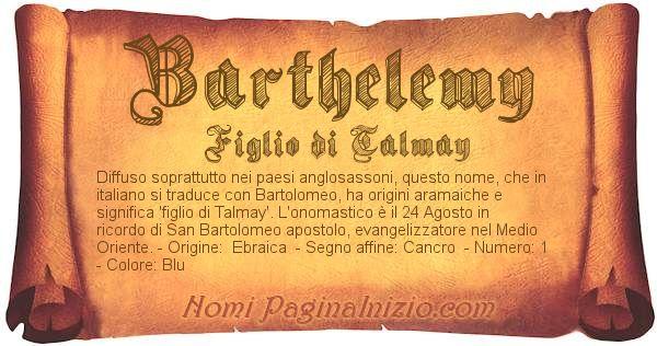 Nome Barthelemy