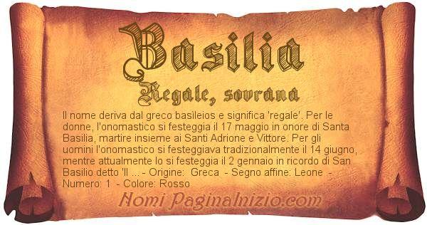 Nome Basilia