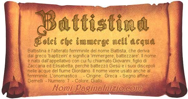 Nome Battistina