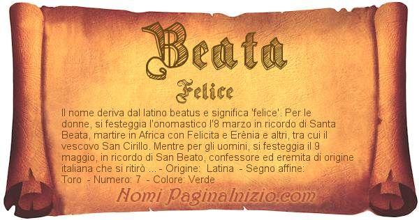 Nome Beata