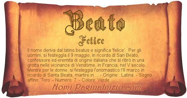 Nome Beato