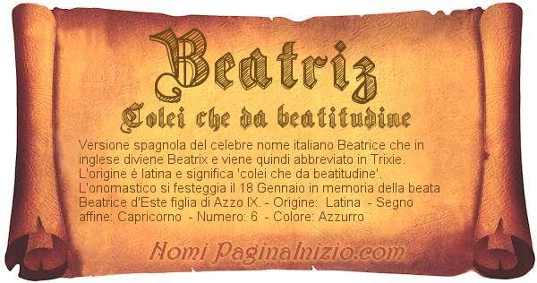 Nome Beatriz