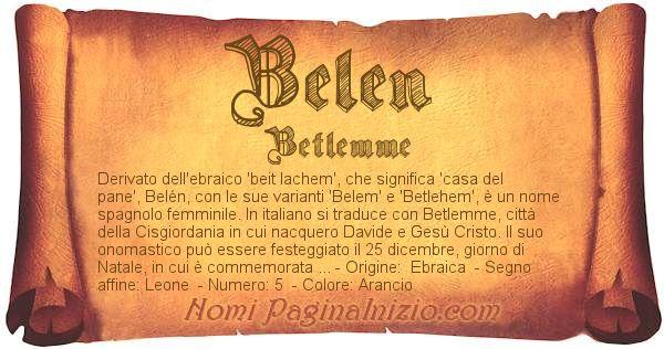 Nome Belen