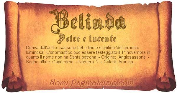 Nome Belinda