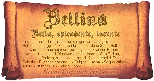 Nome Bellina