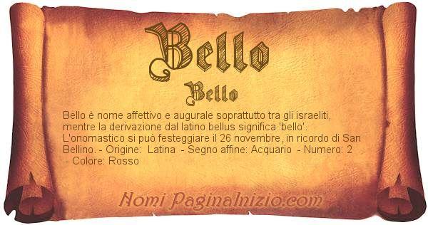 Nome Bello