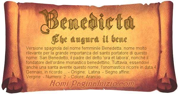 Nome Benedicta