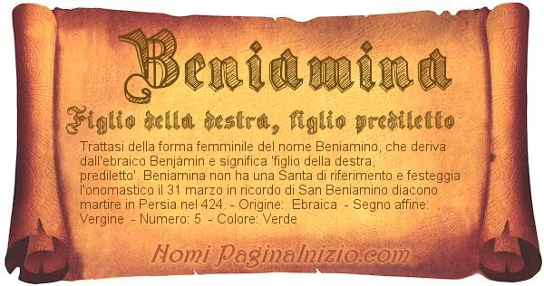 Nome Beniamina