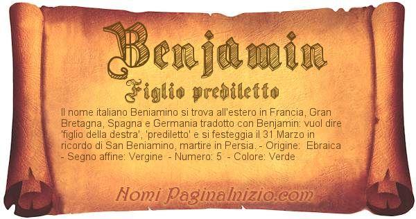 Nome Benjamin