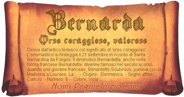 Nome Bernarda