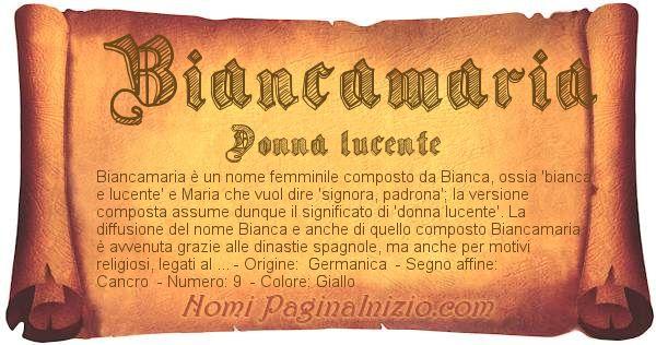 Nome Biancamaria