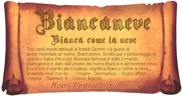 Nome Biancaneve