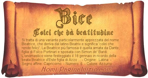 Nome Bice