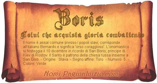 Nome Boris