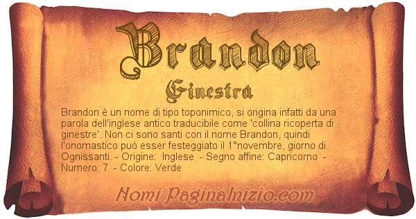 Nome Brandon