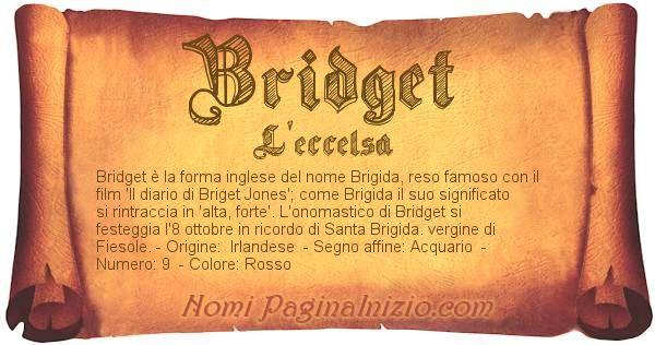 Nome Bridget