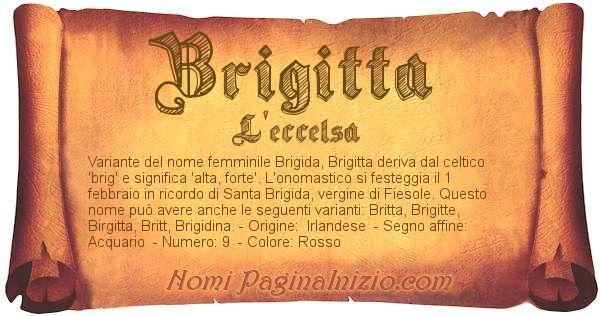 Nome Brigitta