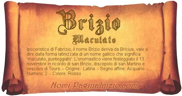 Nome Brizio