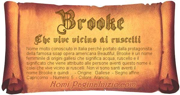 Nome Brooke