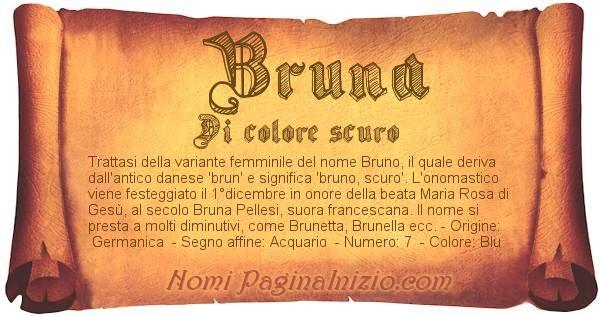 Nome Bruna