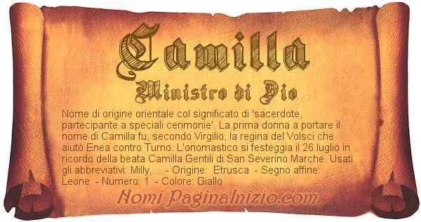 Nome Camilla