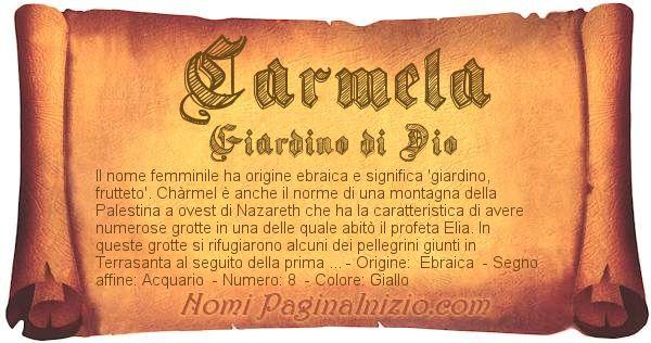 Nome Carmela