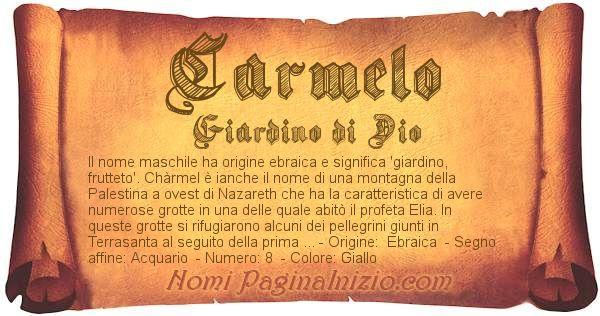 Nome Carmelo