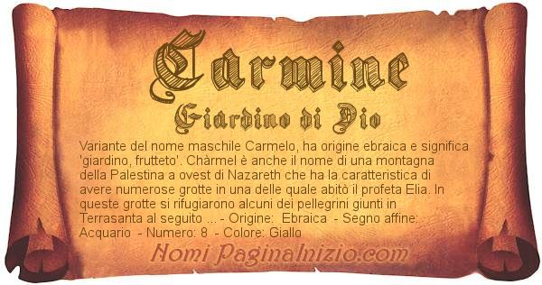 Nome Carmine