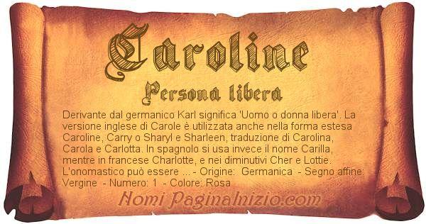 Nome Caroline