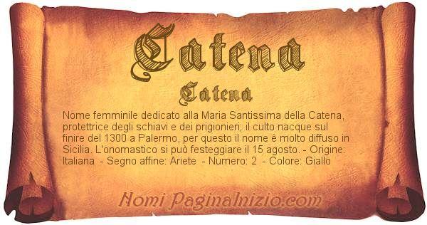 Nome Catena