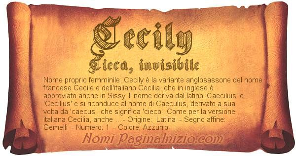 Nome Cecily