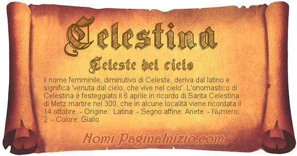 Nome Celestina