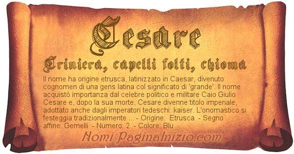 Nome Cesare