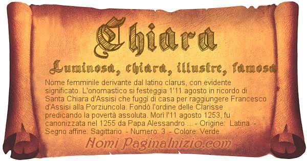 Nome Chiara