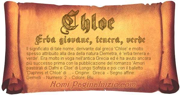 Nome Chloe