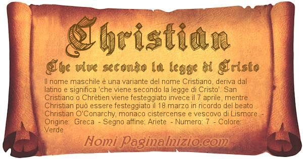 Nome Christian