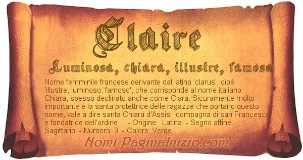 Nome Claire